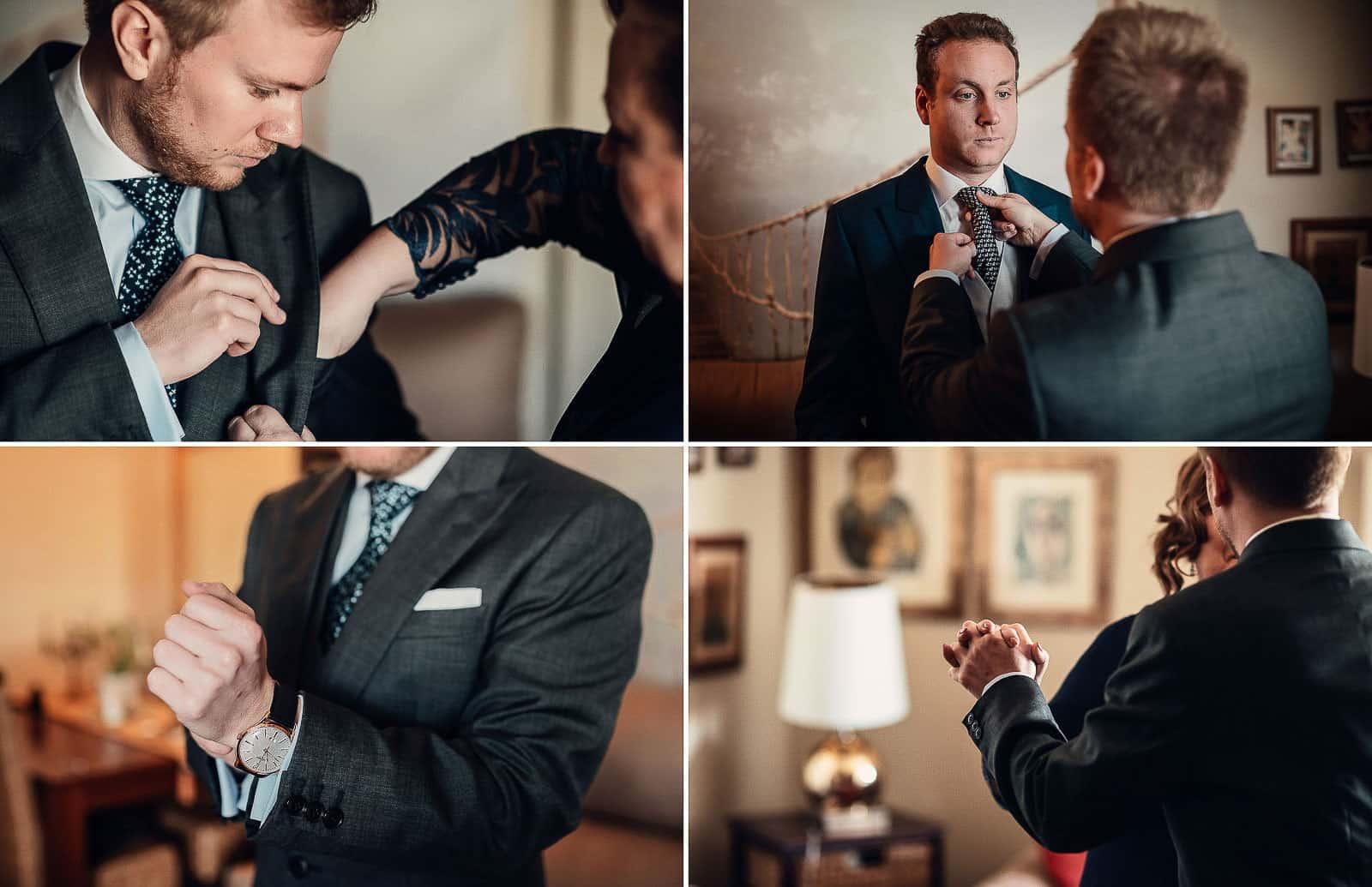novio preparativos traje boda