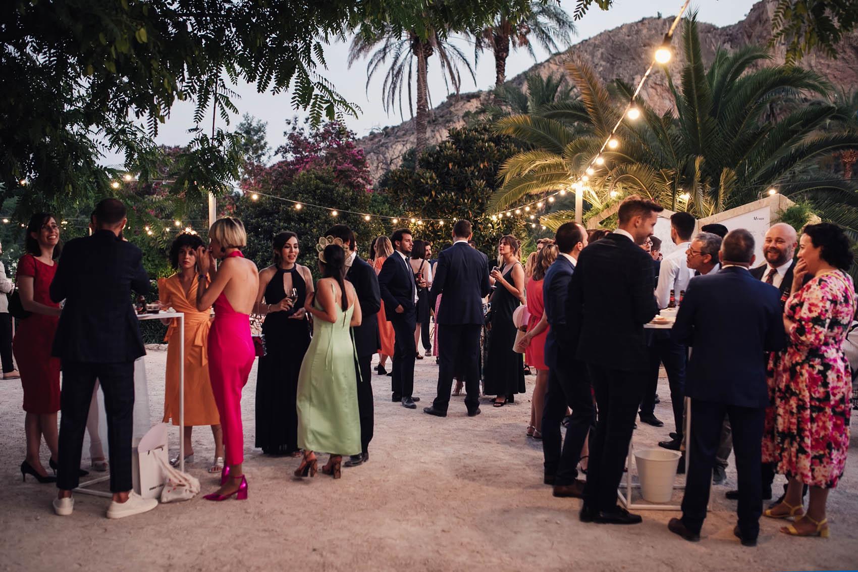 Cóctel de una boda en Parque de la Marquesa