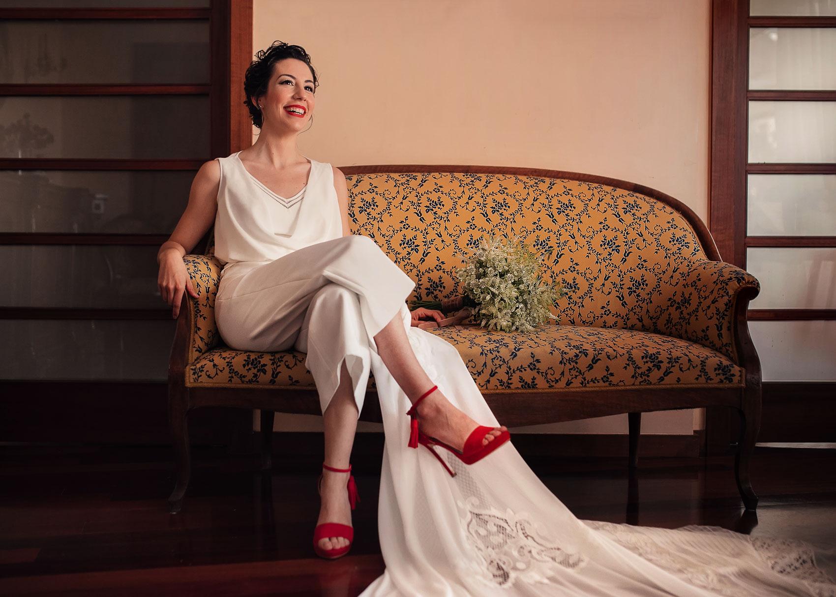 Vestido de novia traje pantalón Cayetana Ferrer