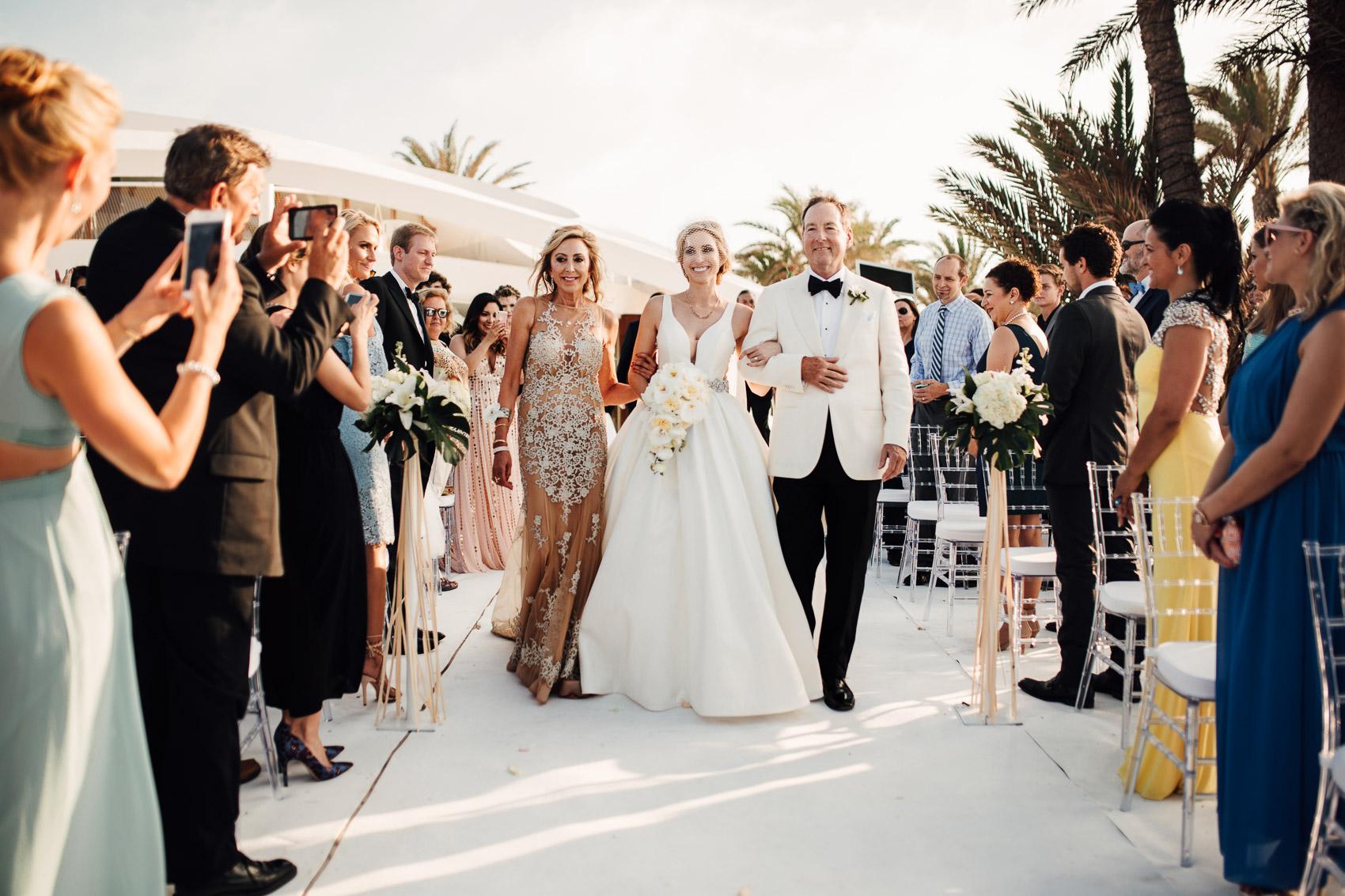 ceremonia novia padrinos invitados