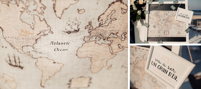 mapa mundo detalle decoracion