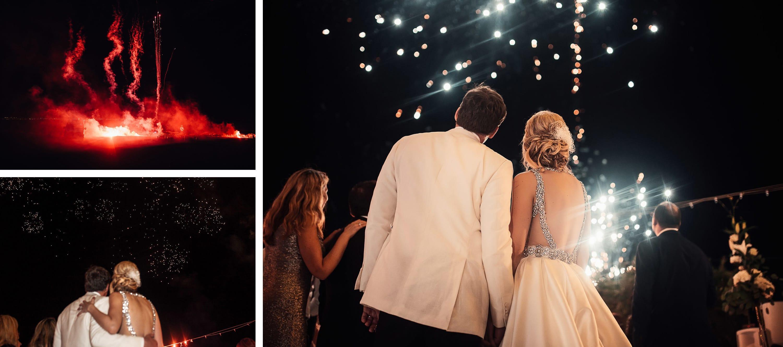 fuegos artificiales novios noche wedding