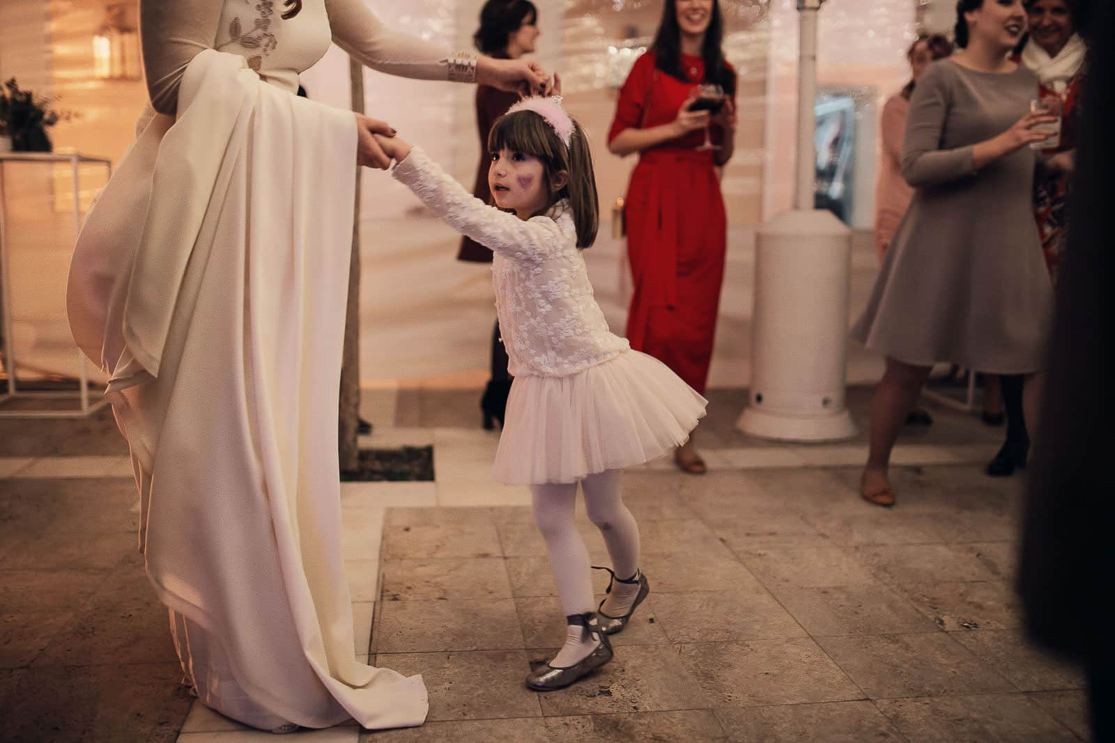 novia baile niña princesa boda
