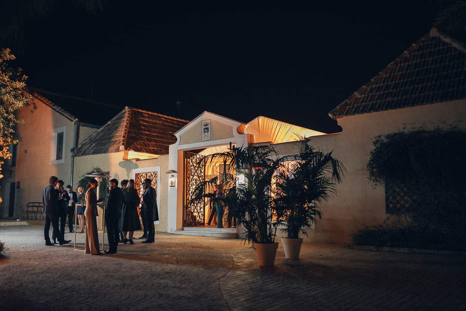 boda restaurante luces noche marquesa recepcion