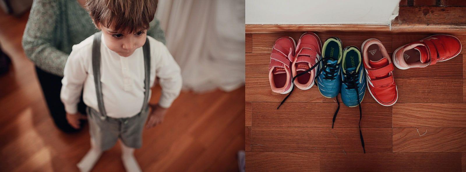 niño tirantes zapatos boda