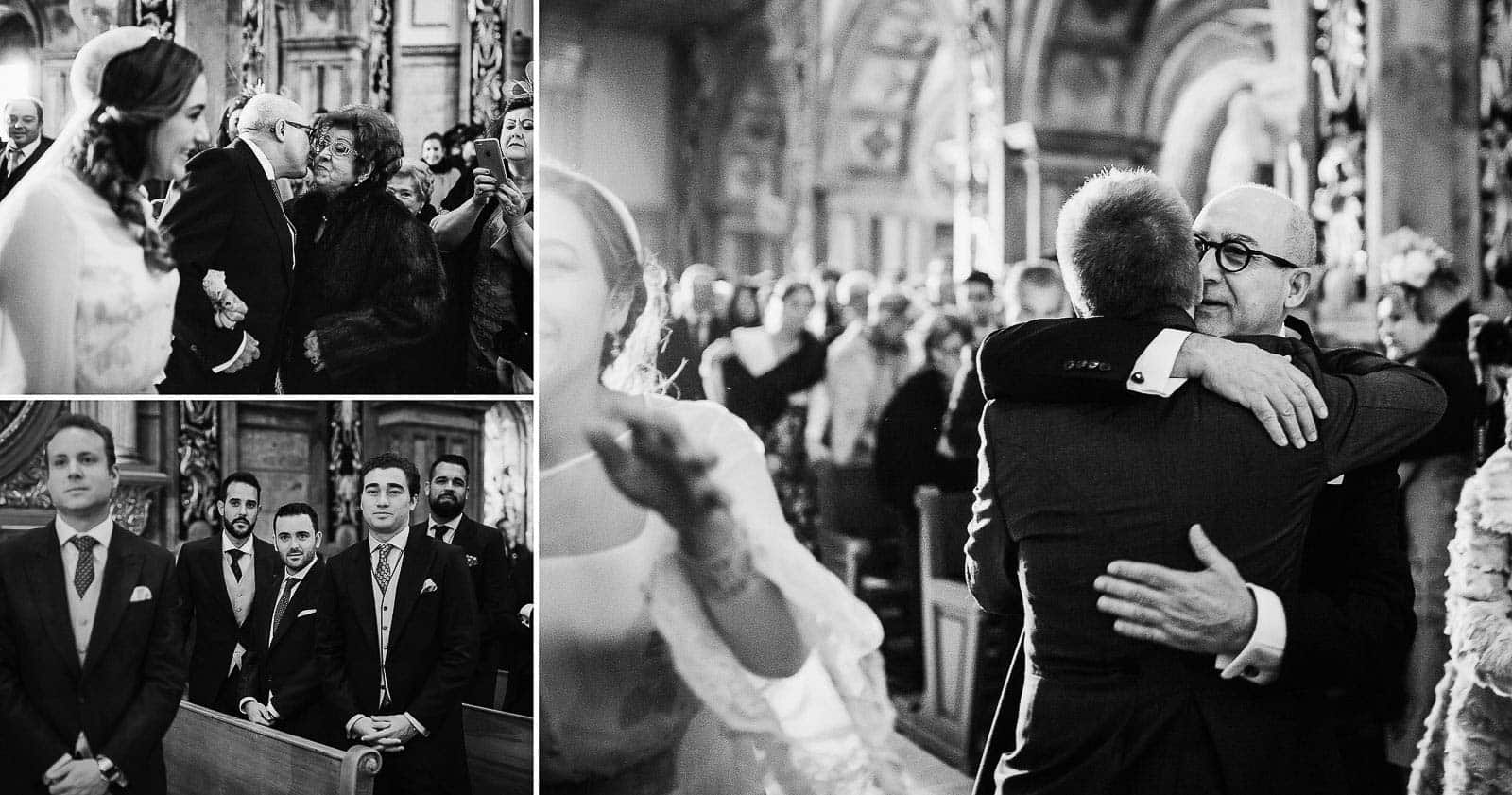 saludo invitados novios iglesia