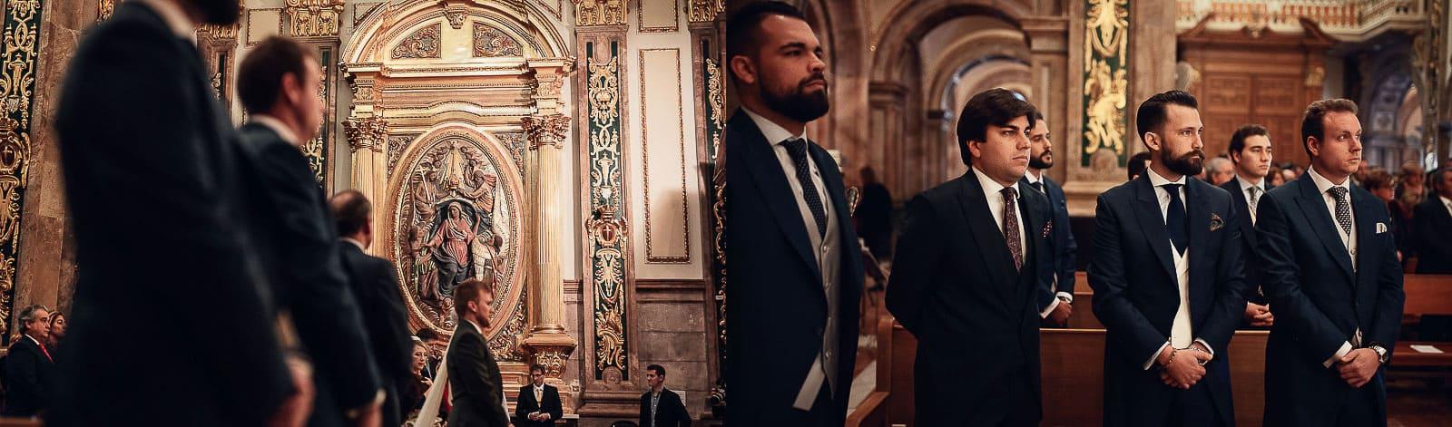 hombres invitados traje