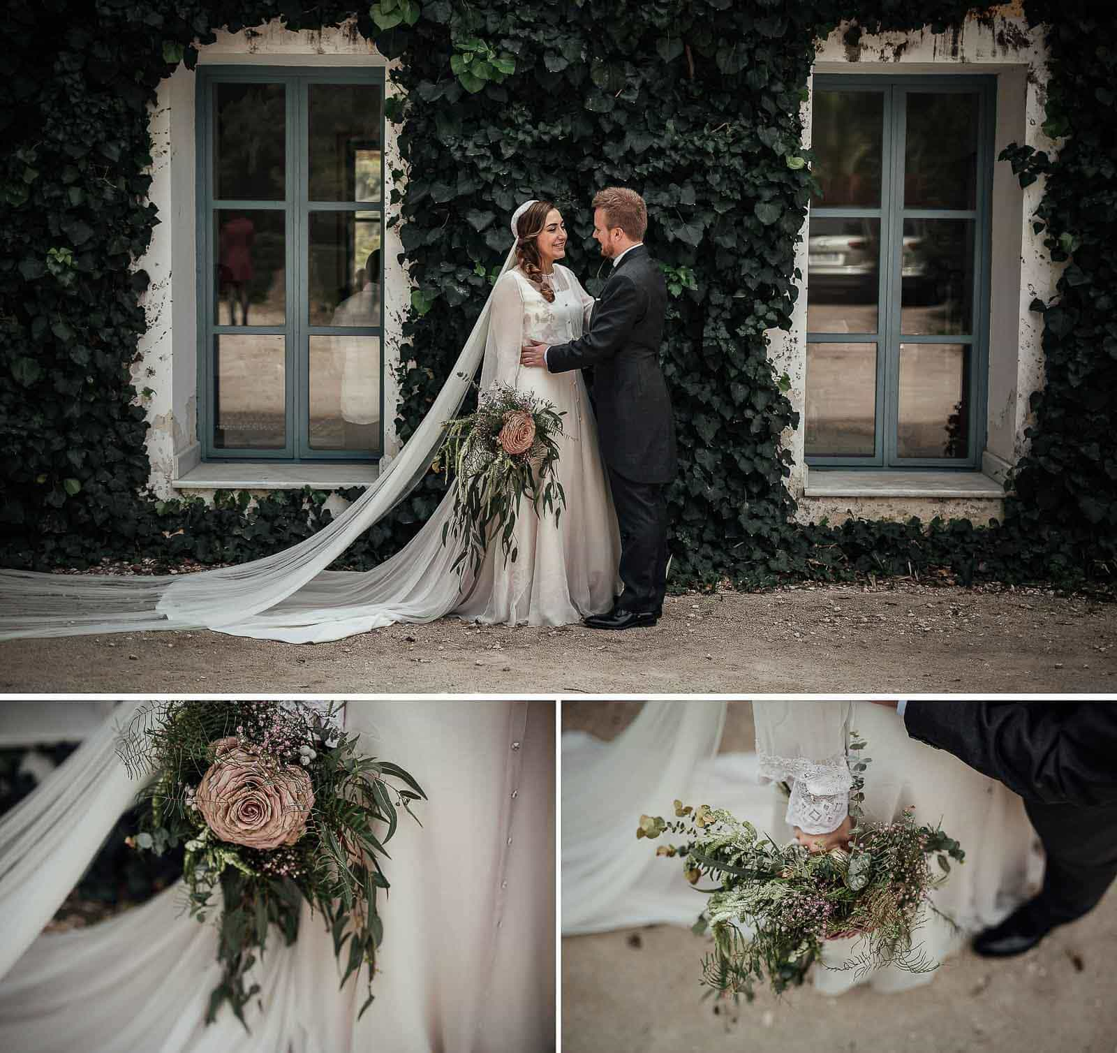detalle ramo pareja recien casados fernando hijo parque de la marquesa