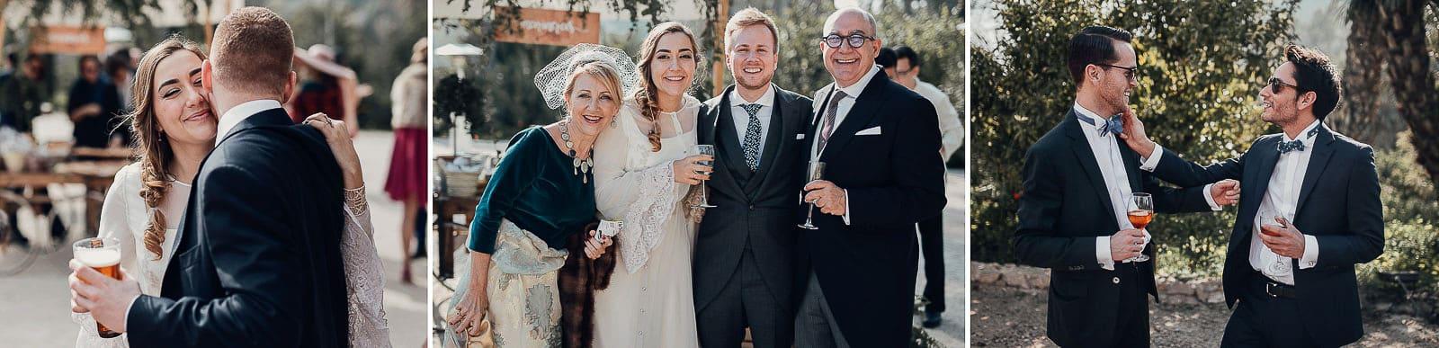 invitados y novios boda