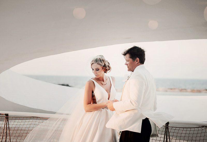 pareja novios boda collados beach mar menor