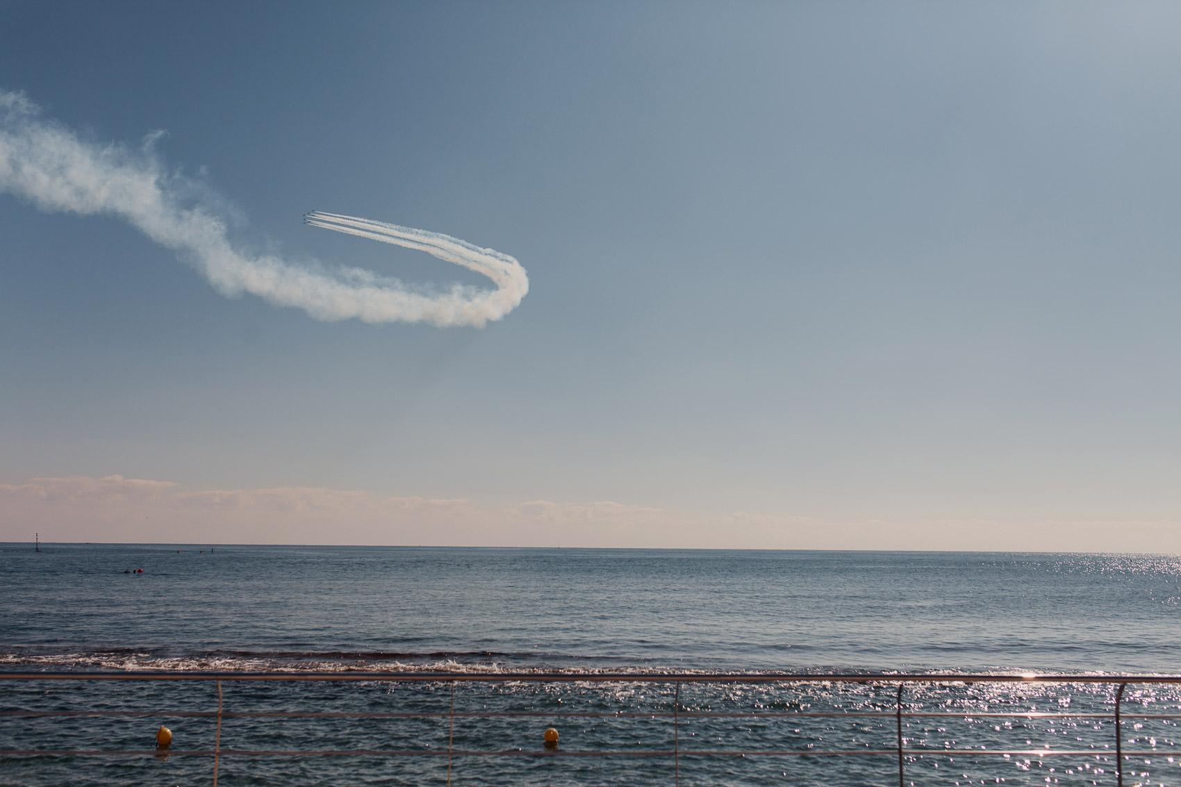 vista aereo cielo aviones mar beach sol