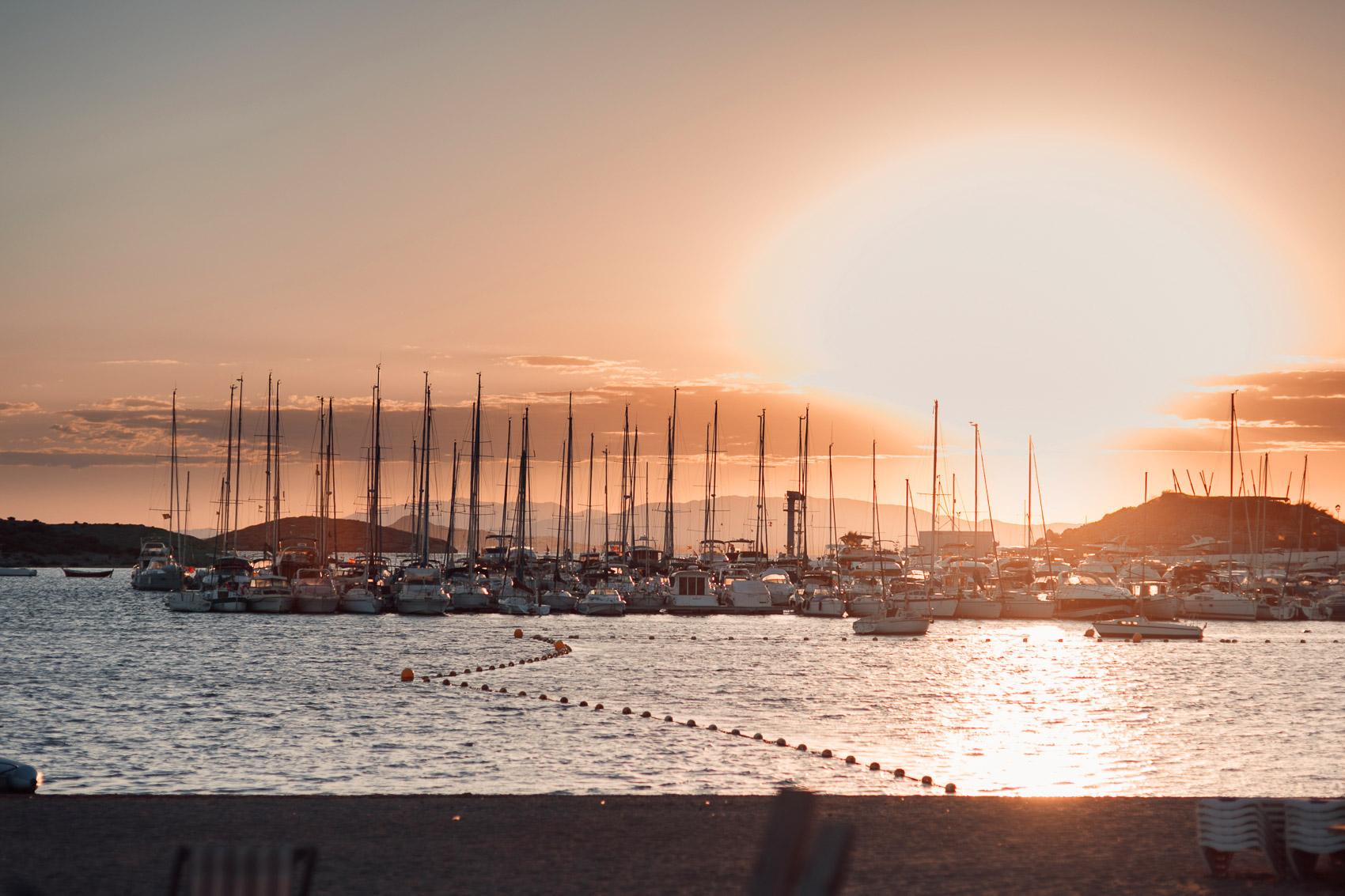 fotografia mar atardecer manga puerto barcos