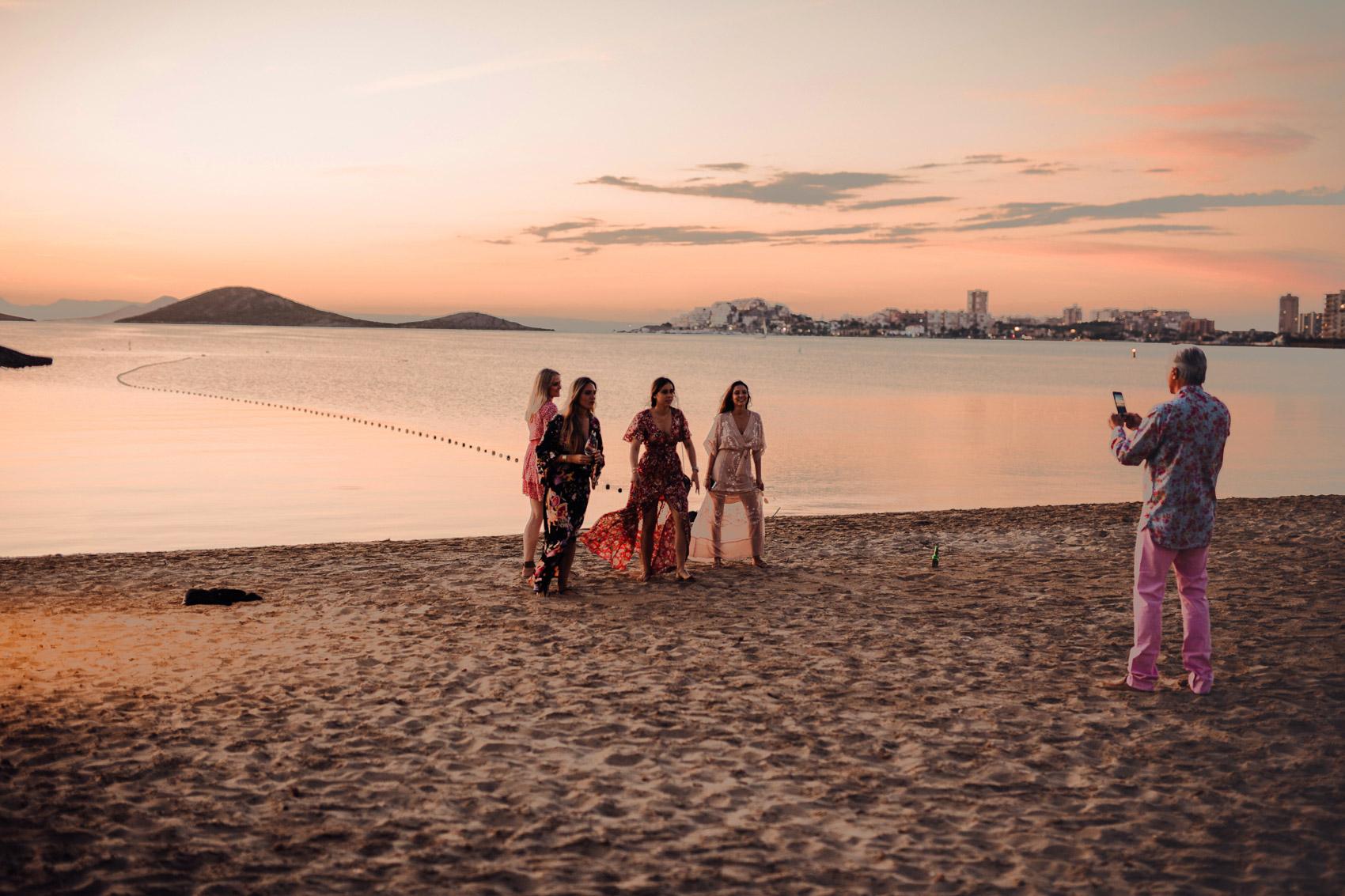 fotografia vistas mar manga atardecer invitadas perfectas