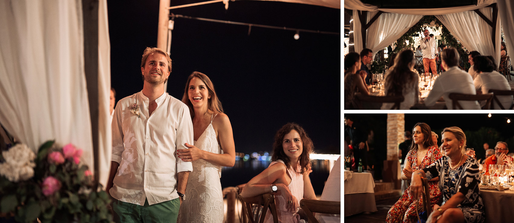 invitados wedding mesas restaurante luces pareja novios