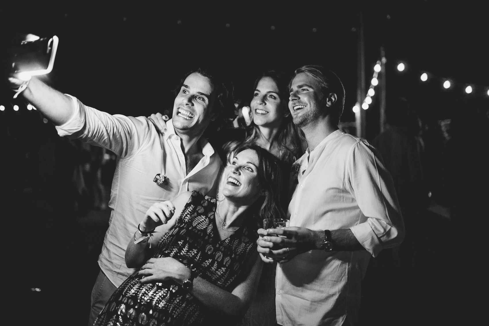 wedding invitados selfie restaurante beach mar menor fotografia