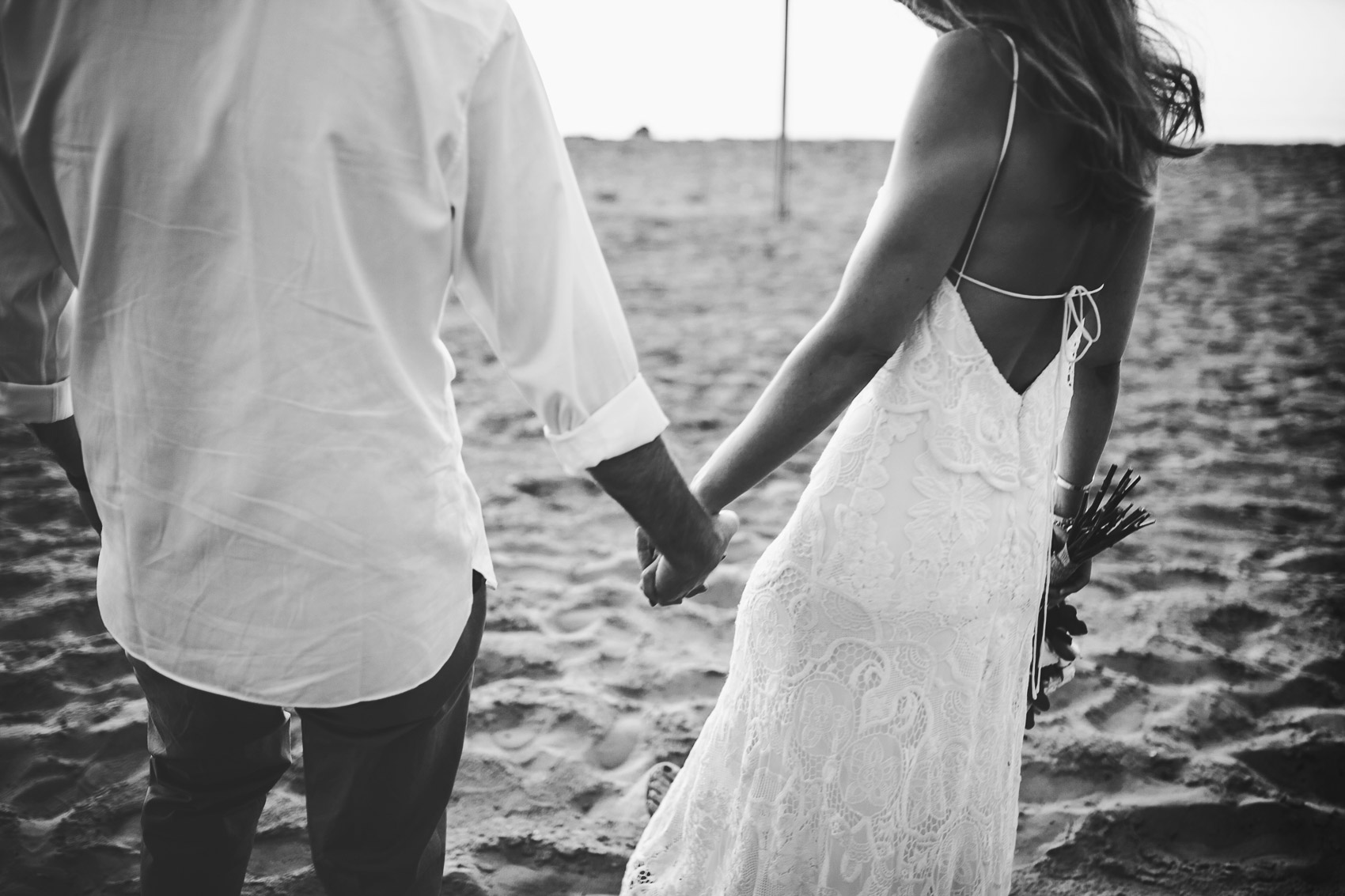 wedding couple beach byn white dress photography