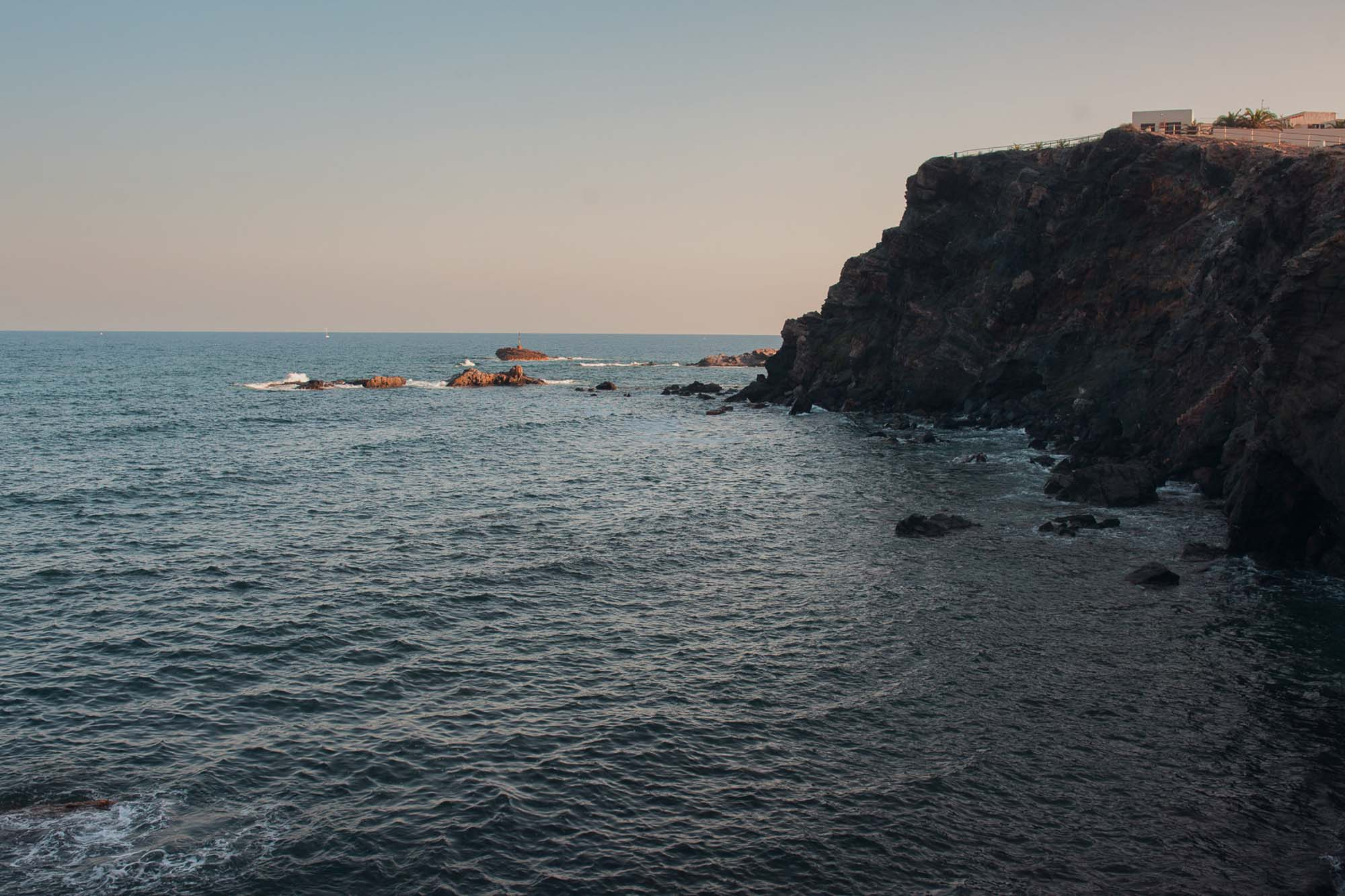 acantilado playa vistas cabo de palos mar rocas atardecer photography