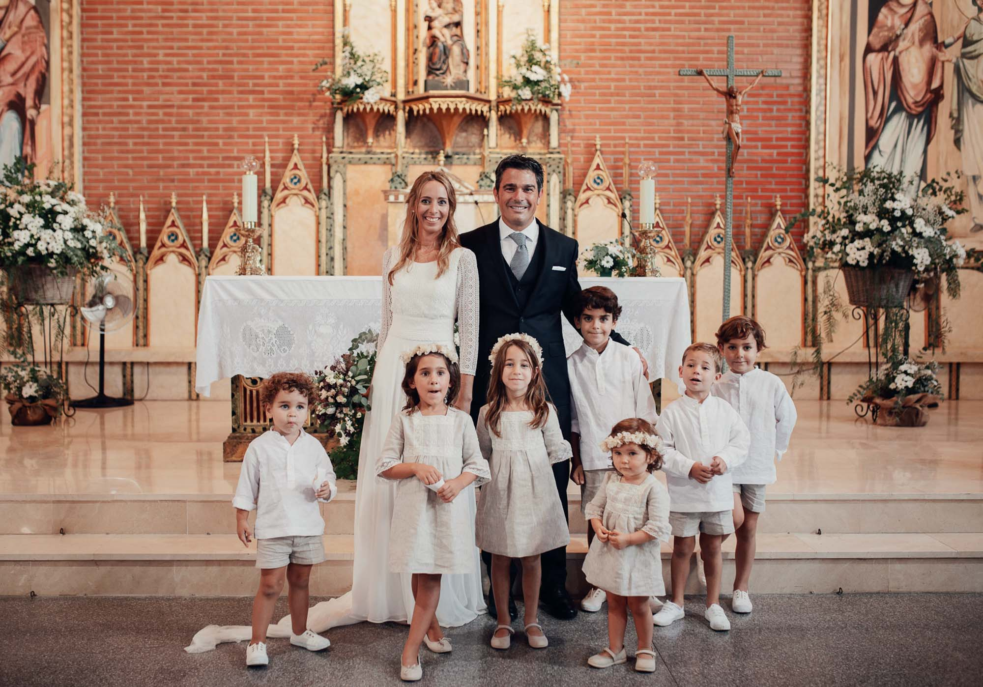 iglesia wedding niños novios flores altar matrimonio cabo de palos fotografia