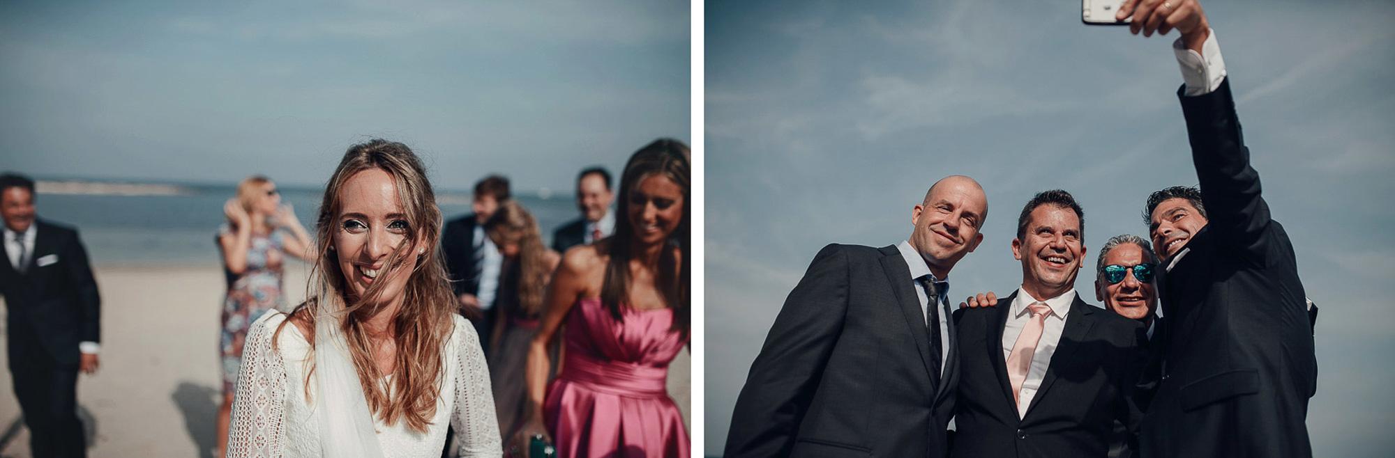 wedding invitados selfie Cabo de Palos playa novia restaurante Collados fotografia