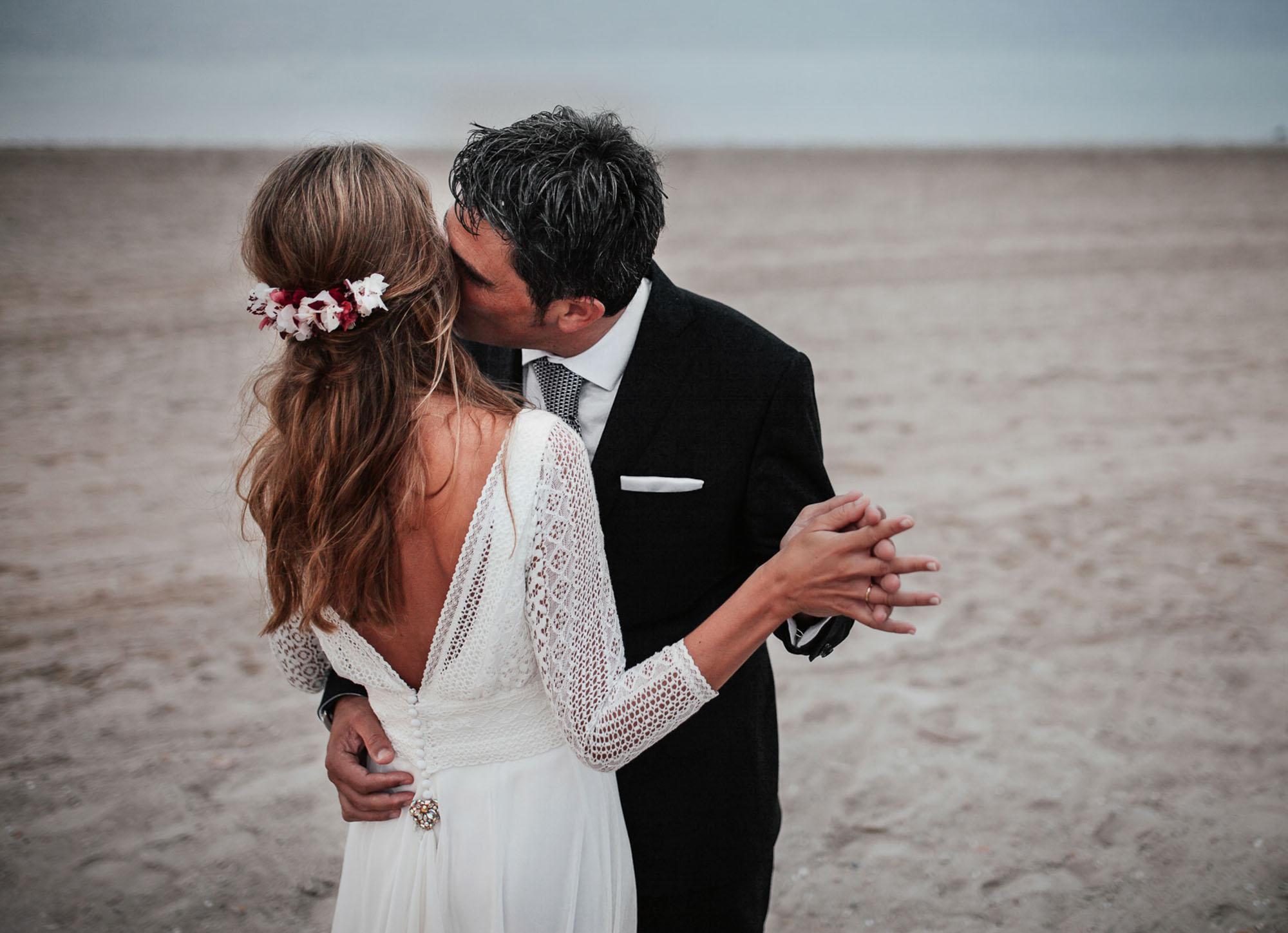 detalle enlace matrimonial Cabo de Palos fotografia playa