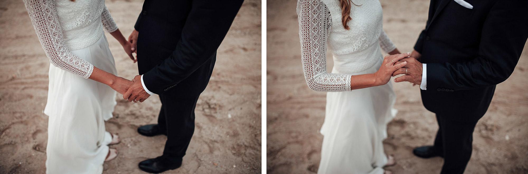 detalle enlace matrimonial anillos Cabo de Palos fotografia