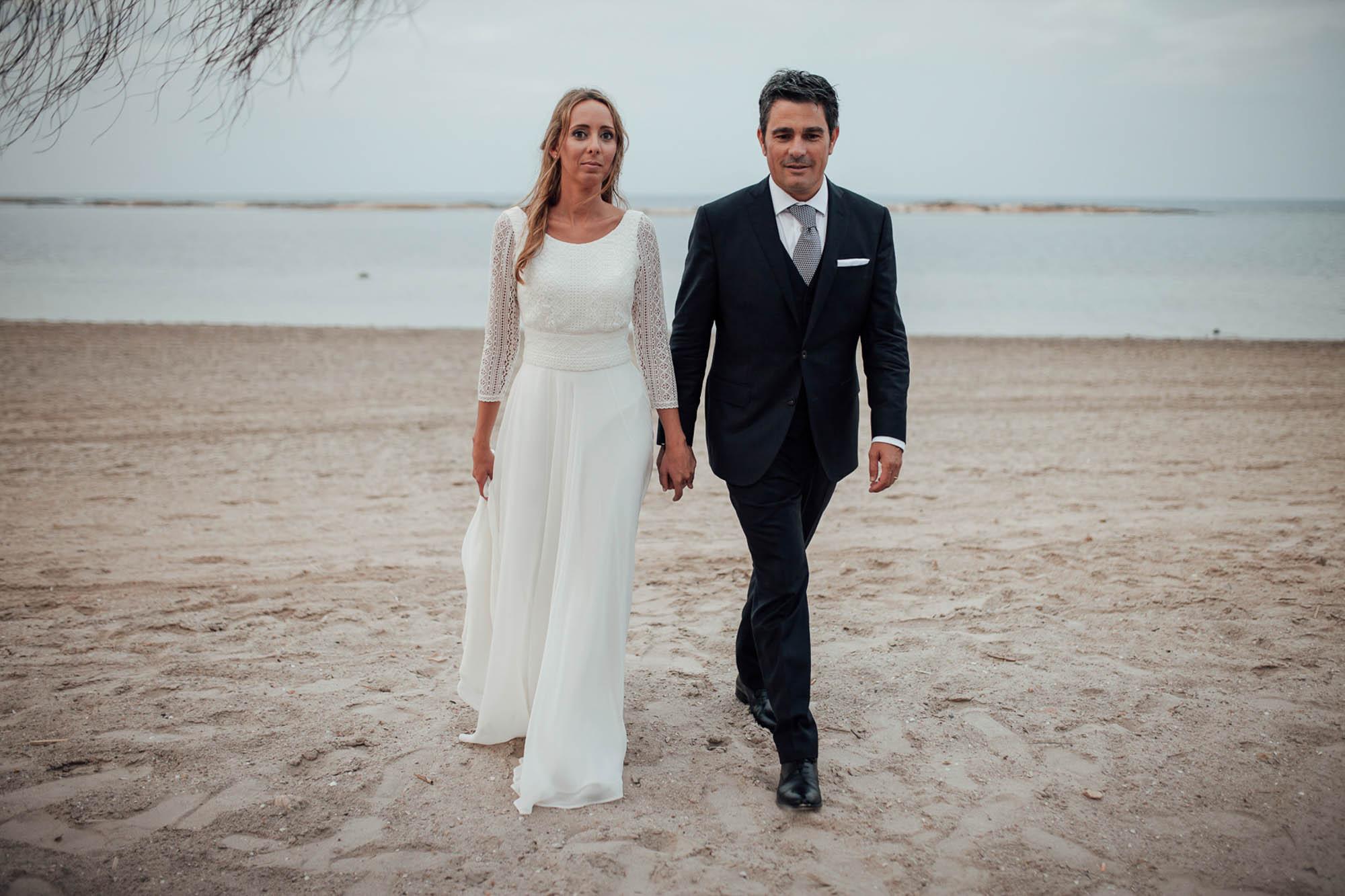 Cabo de Palos playa pareja casados fotografia paseo
