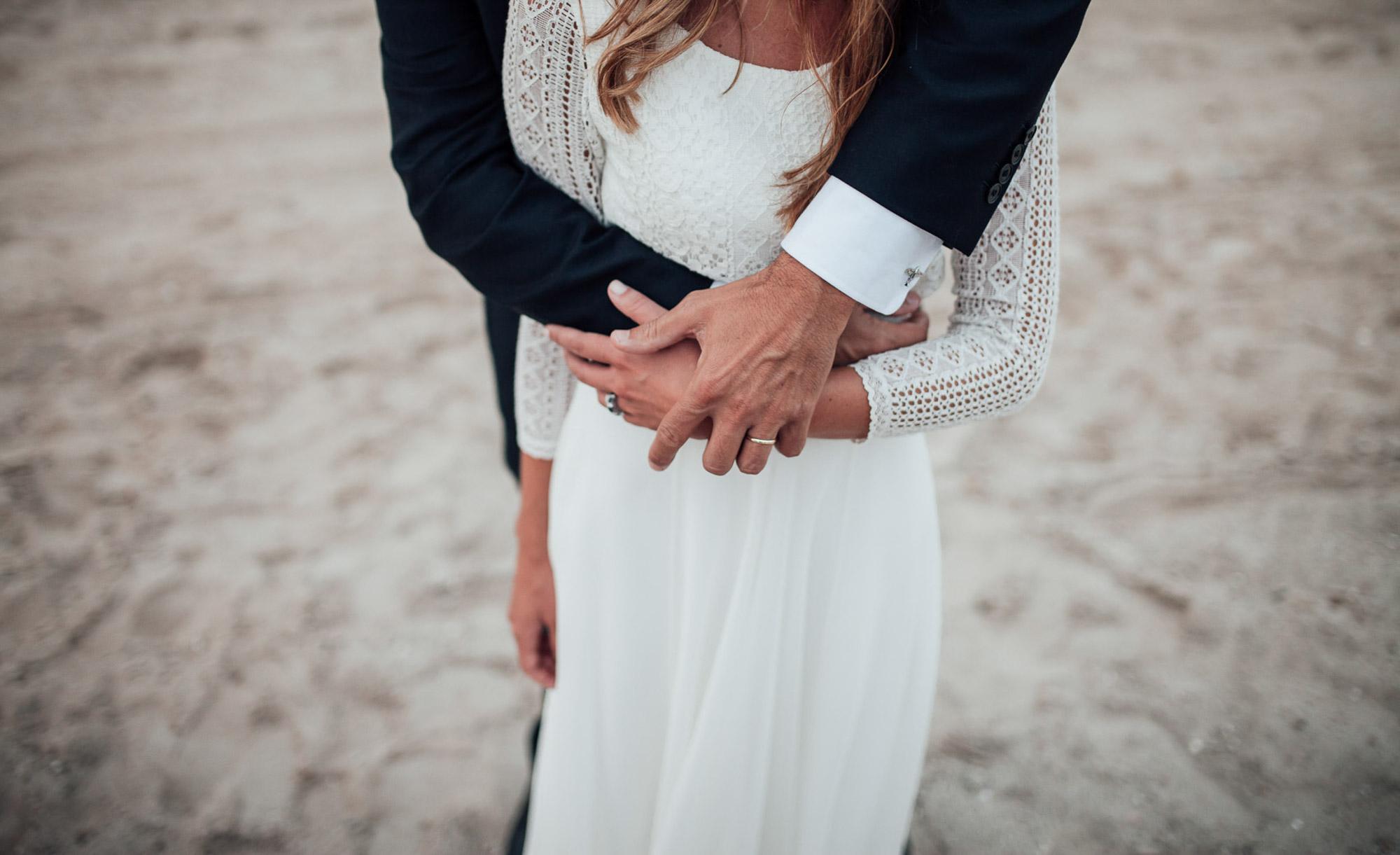enlace anillo novios fotografia La Manga playa