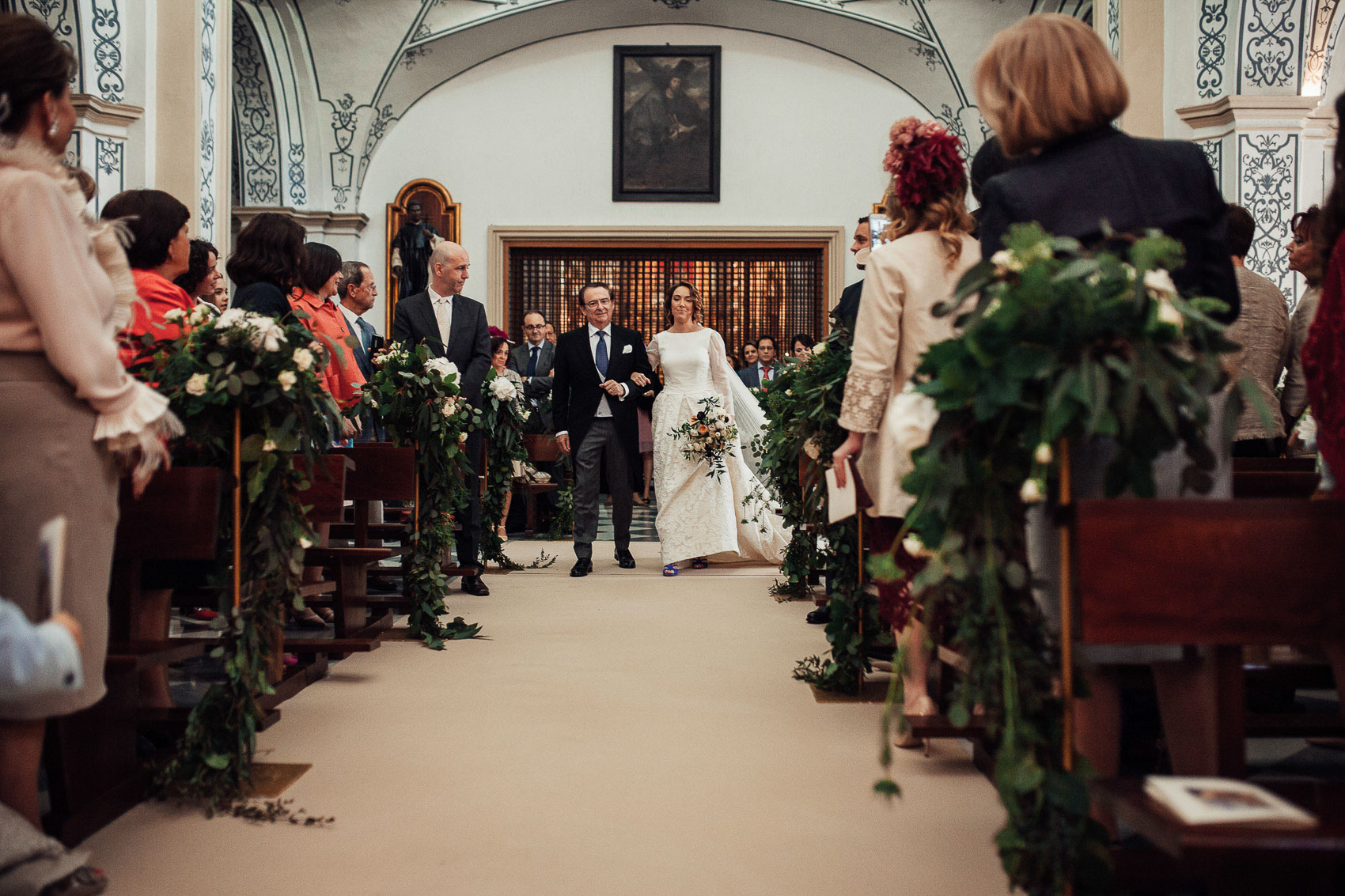 entrada novia padrino pasillo iglesia anas