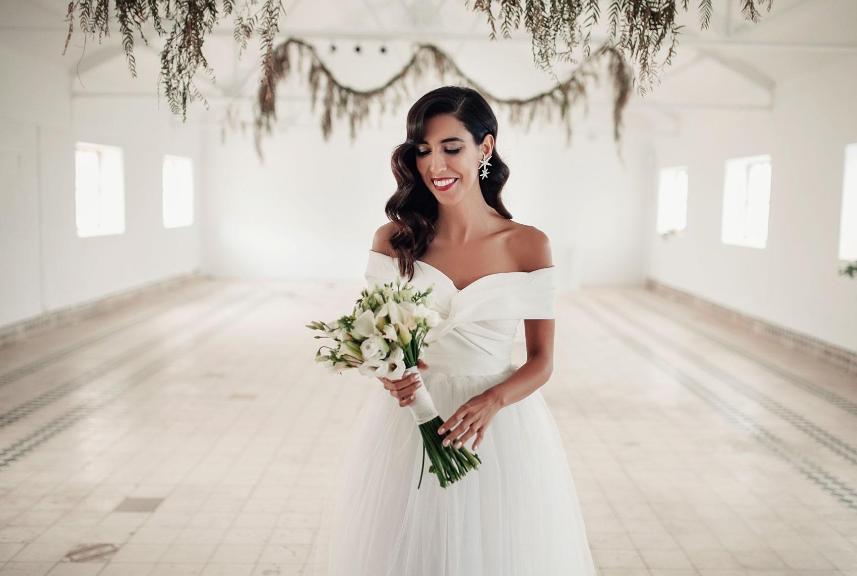 Novia en la estacion otero de herreros boda
