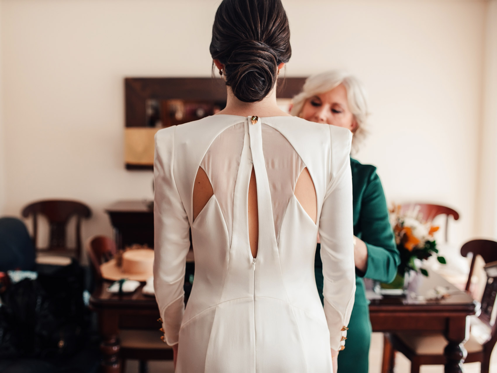 Vestido espalda vestido Marcela Mansergas novia