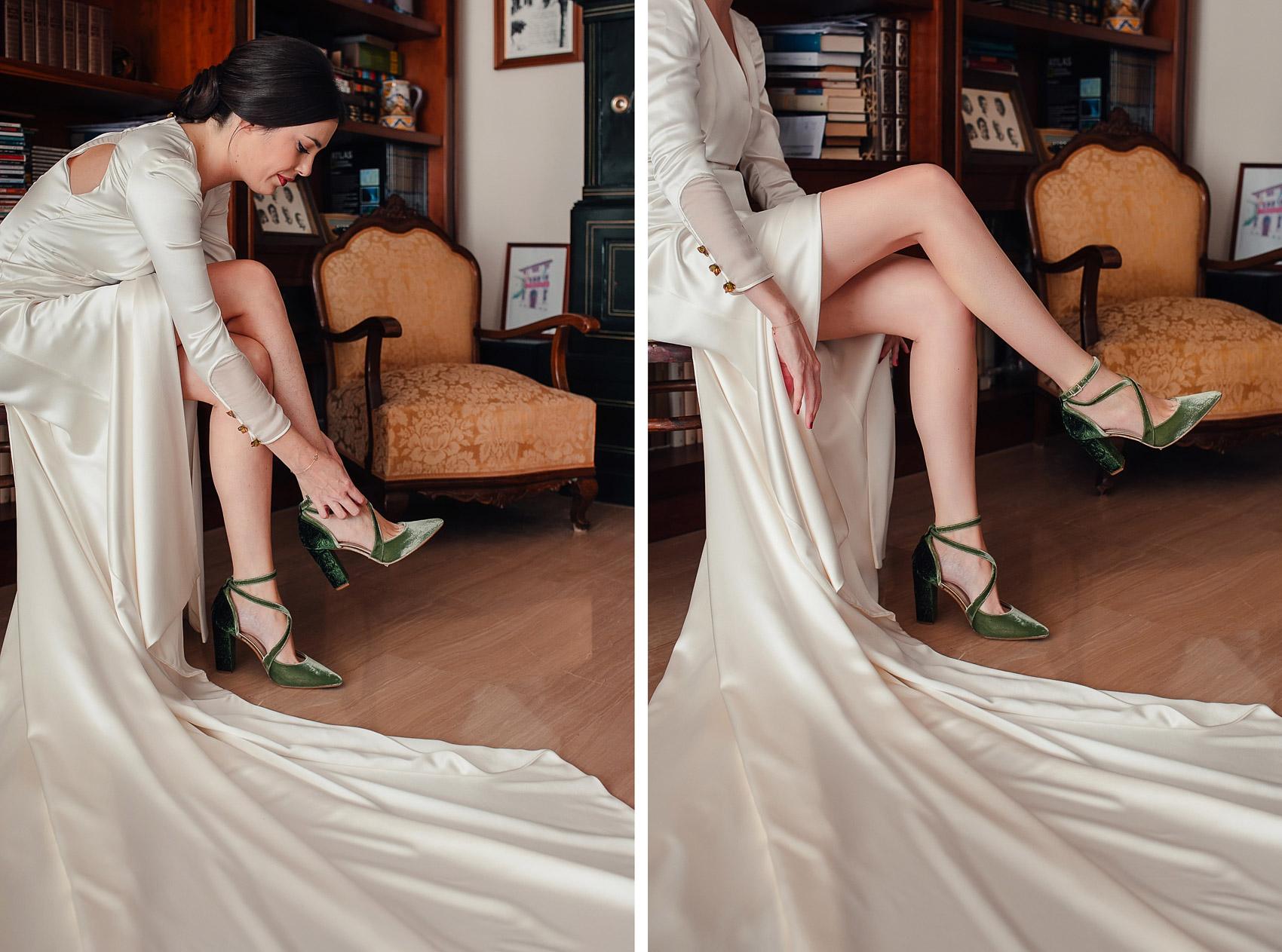 Zapatos just ene Marcela Mansergas novia